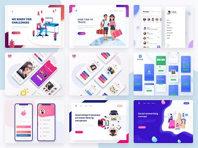 My Top Nine of 2018 typography app clean design web illustration tushit ux ui