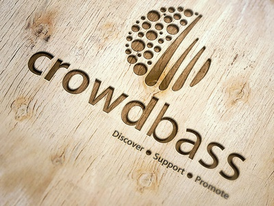 Crowdbass fans artists music logo logo design crowdbass logo