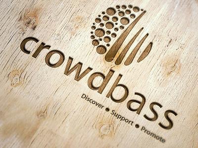 Crowdbass fans artists music logo logo design crowdbass logo