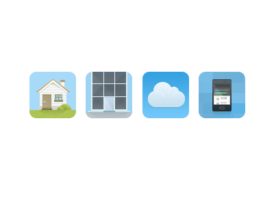 Product Icons icons pixels app home business cloud mobile