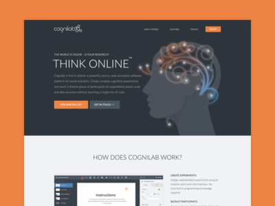 Cognilab homepage redesign saas website ui marketing homepage