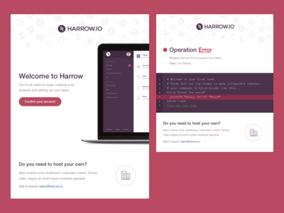 Harrow Emails ui editor git web app email