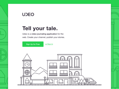 Udeo Homepage udeo illustration ui website