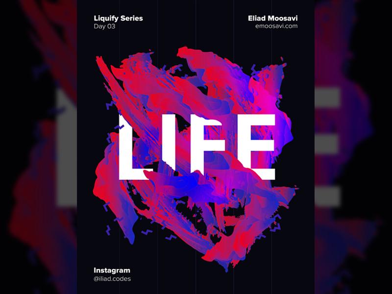 Liquify Series - Day 03 life everydaydesign print visual graphic poster saturation lights liquify
