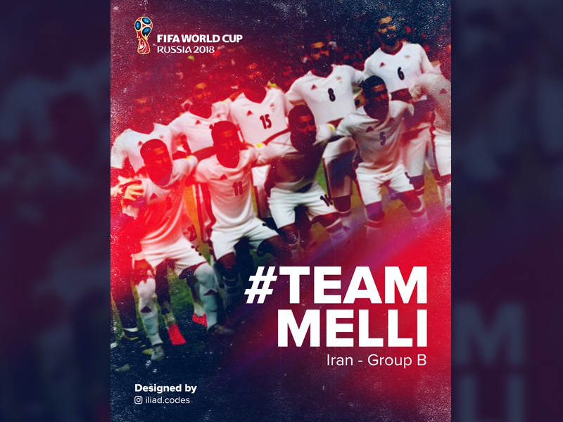 Team Melli - World Cup 2018 team melli soccer world cup iran liquify lights saturation poster graphic visual print everydaydesign