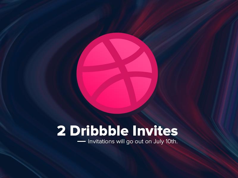 2 Dribbble Invites july dribbble invitation invite invites