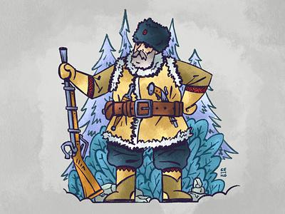 ❄️ Siberian Cossack warrior design character siberian procreate cossack illustration senko