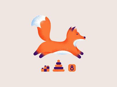 🦊 Jumping fox logosai brand orange fox illustration branding senko logo