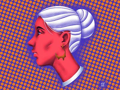 A girl portrait face woman girly portrait design senchenko illustration senko