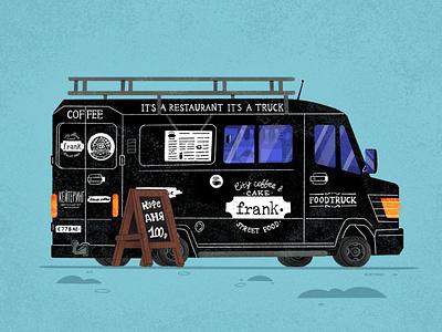 Сoffee truck №1 uniqgraphic barista street truck car illustration senko coffee