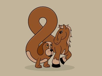 Dog & Pony dog pony dog and pony and ampersand dog  pony