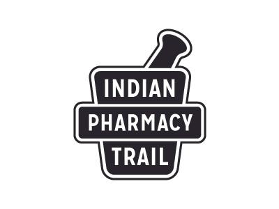 Indian Trail Pharmacy Logo WIP apothecary logo pharmacy drug store mission gothic