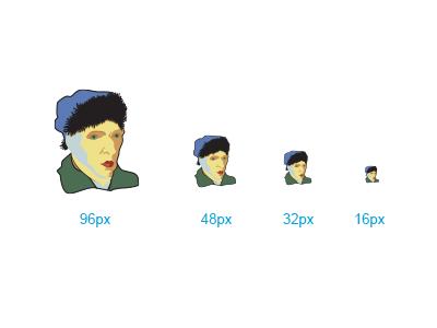 Vincent Van Goghticon van gogh emoji emoticon