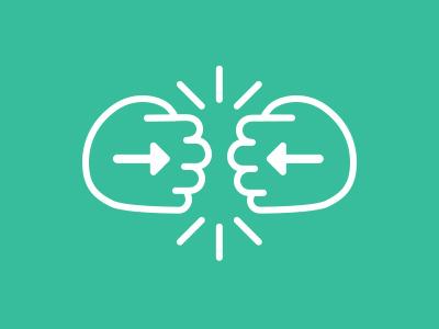 Fist Bump icon line icon icon set fist bump