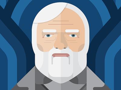 Andrew Carnegie vector portrait andrew carnegie illustration thick lines old man beard wealth