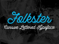 Folkster - Cursive Script Typeface