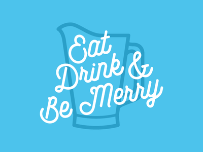 Eat, Drink & Be Merry craft brew folkster drink beer pitcher icons
