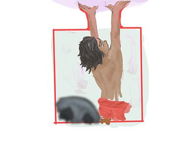 Mowgli's Book(Mowgli) portrait art illustration jungle book