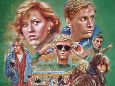 The Breakfast Club Poster portfolio keyart movie 80s retro graphic design poster