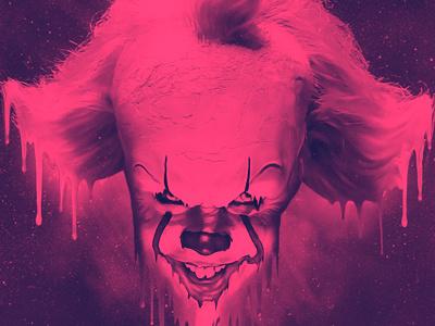 IT poster horror pennywise portfolio keyart movie 80s retro graphic design poster