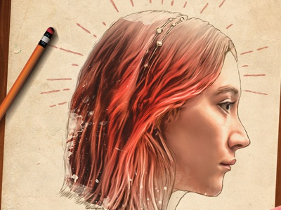 Lady Bird portfolio keyart movie graphic design poster