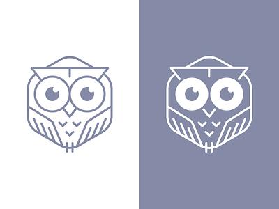 Hexagonal Owl owl logomark logo hexagon line eyes