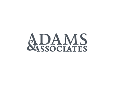 Full Logotype for Adams & Associates Law Firm calendas ampersand firm law logomark logotype logo