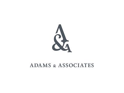 Logomark for Adams & Associates Law Firm firm law calendas ampersand logomark logo