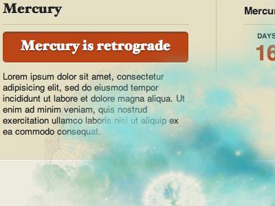 Mercury in Retrograde website horoscope
