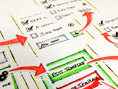 Screenflow Sketch ux graph paper sketch markers