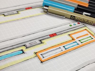 Still My Favorite Part of This Job ui sketch graph paper marker pen ink web app