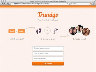 Startup Weekend Santa Barbara: Trumigo startup weekend website app orange signup