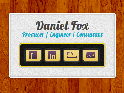 Teaser Site for a Friend wood leather web teaser buttons social