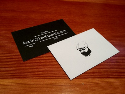 New Business Card email twitter avatar moo business card