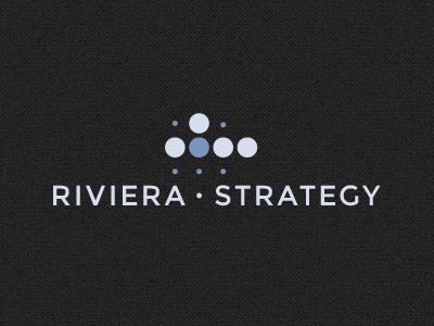 Riviera Strategy Dark logo dark dots montserrat grid logotype