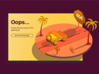 Daily Design Challenge #008 - 404 Page