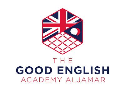 Good English Academy Logo Option 3 spain college language good words academy english logo