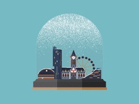 Manchester Snow Globe - Christmas Card Design
