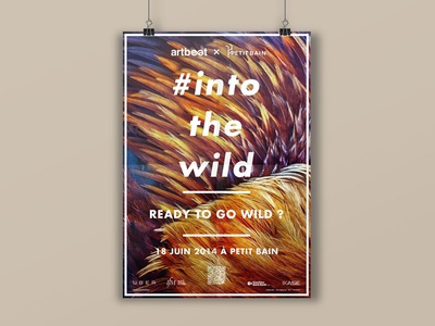 Into the Wild, poster #1 visual identity poster event