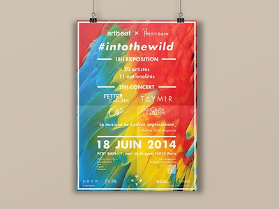Into the Wild, poster #2 visual identity poster event