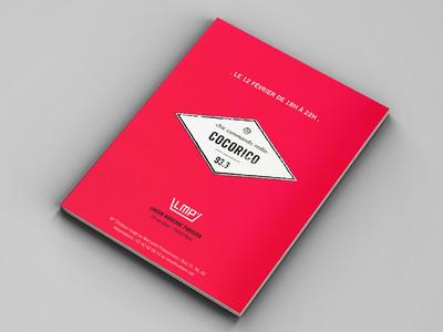 Brochure - Chic Commando Radio  music concert pirate radio show event visual identity brochure
