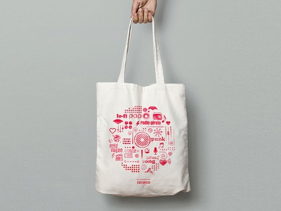Bag - Chic Commando Radio  concert music visual identity bag event