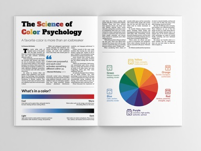 The Science of Color Psychology infographic design design print magazine layout