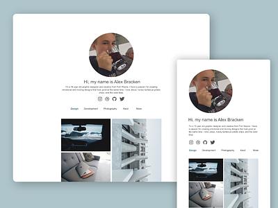 Personal Portfolio Experimentation web design ui design personal website portfolio