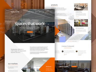 Workpointe web design web parallax typography layout ui homepage hero bold