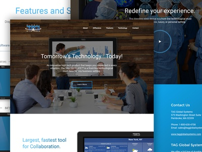 TAG Tecsclate web design clean bold parallax homepage hero ui web website layout