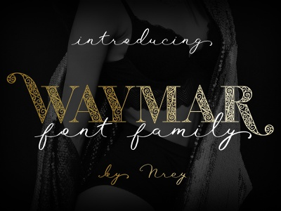 Waymar font family script fashion display serif typeface font