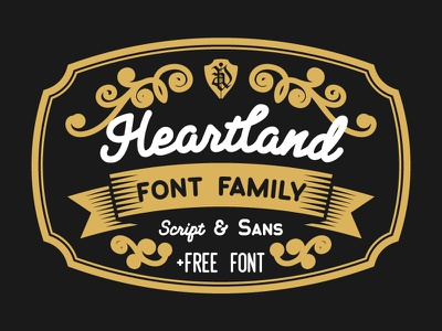Heartland typeface logo design grotesque free lettering script sans serif typeface font