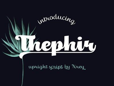 Thephir typeface script lettering typeface font