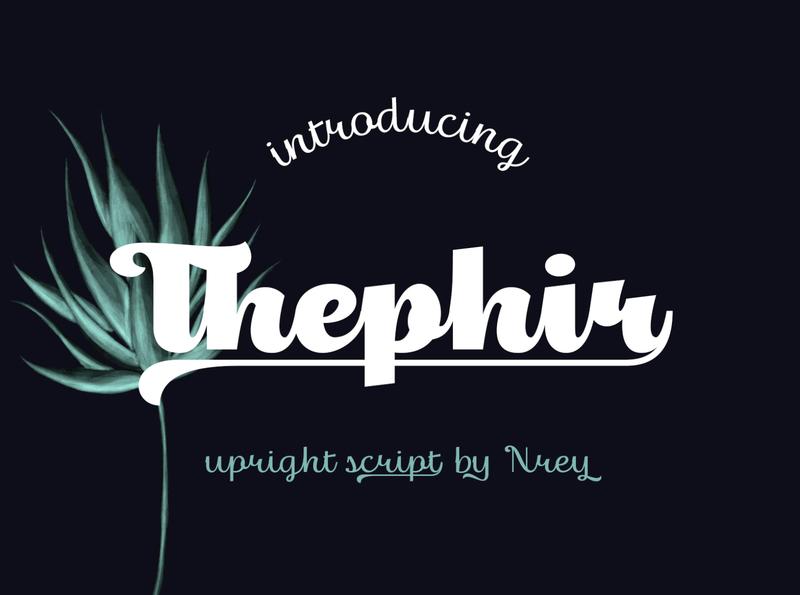 Thephir typeface